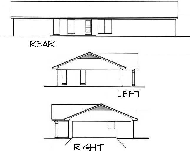 Rear Elevation Plan: 30-433
