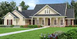 Country Style Home Design Plan: 30-434