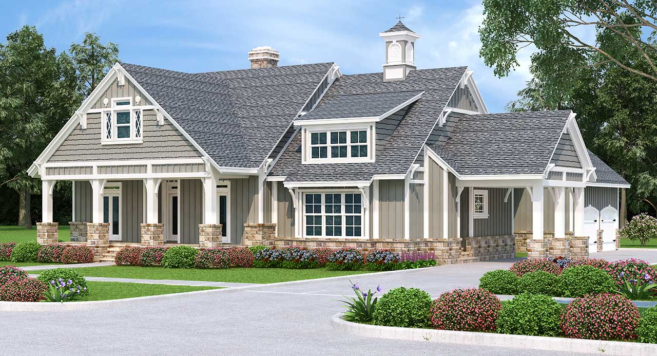 Craftsman Style Floor Plans Plan: 30-436