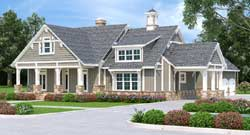 Craftsman Style Home Design Plan: 30-436