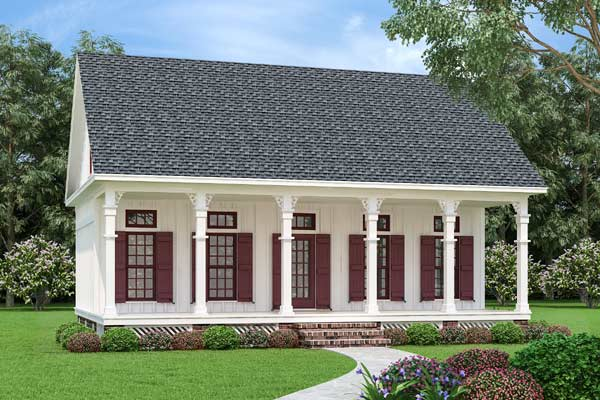 Southern Style Home Design Plan: 30-437