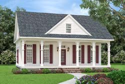 Southern Style Home Design Plan: 30-438