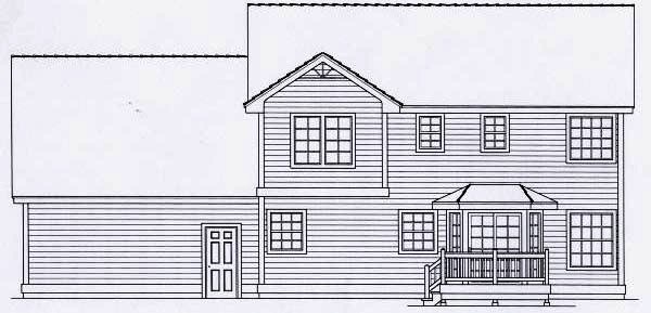 Rear Elevation Plan: 31-122