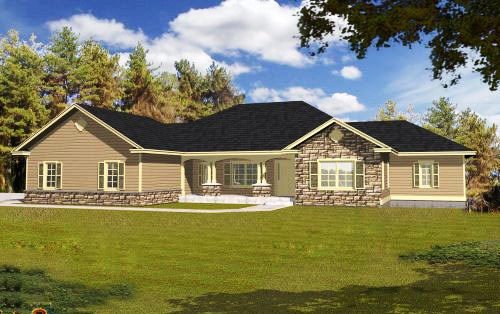 Ranch House Plan - 4 Bedrooms, 4 Bath, 3162 Sq Ft Plan 31-127