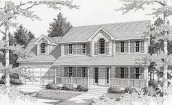 Southern-Colonial Style Floor Plans Plan: 31-131