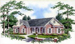 Southern Style Home Design 31-150