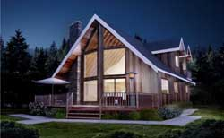 Contemporary Style Floor Plans Plan: 32-105