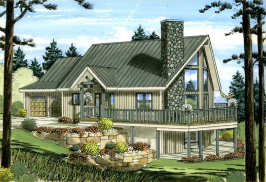 Contemporary Style Home Design Plan: 32-106