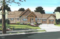 Mountain-or-Rustic Style House Plans 32-111
