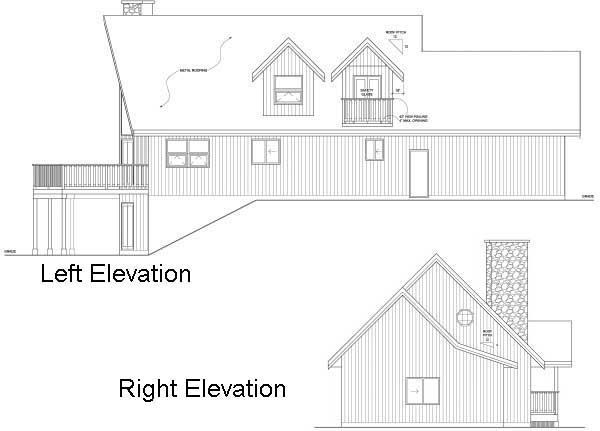 Rear Elevation Plan: 32-117