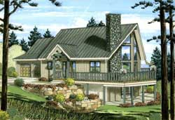 Mountain-or-Rustic Style Floor Plans Plan: 32-117