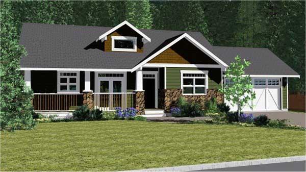 Craftsman Style House Plans Plan: 32-127