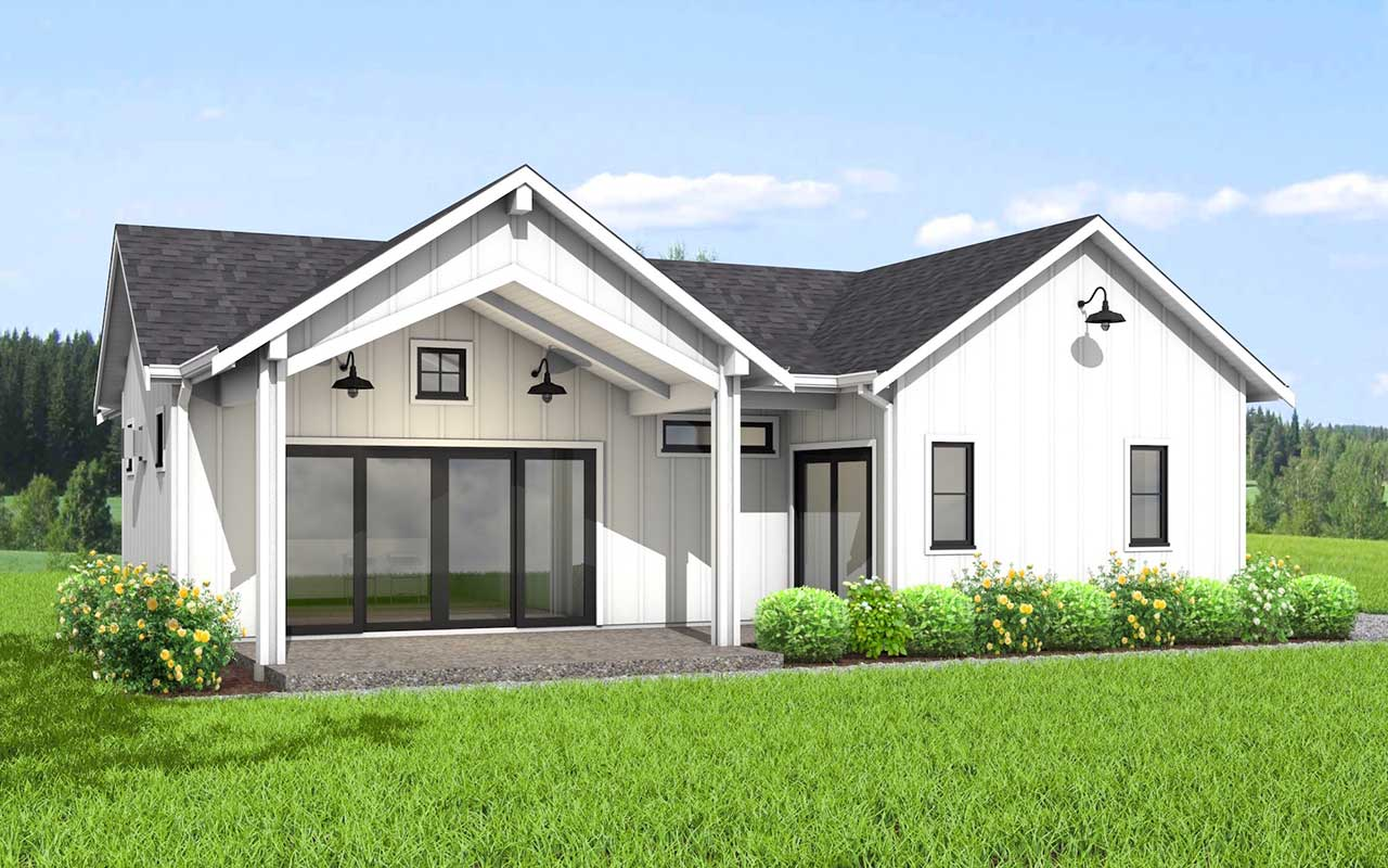 Contemporary Style Floor Plans Plan: 32-135