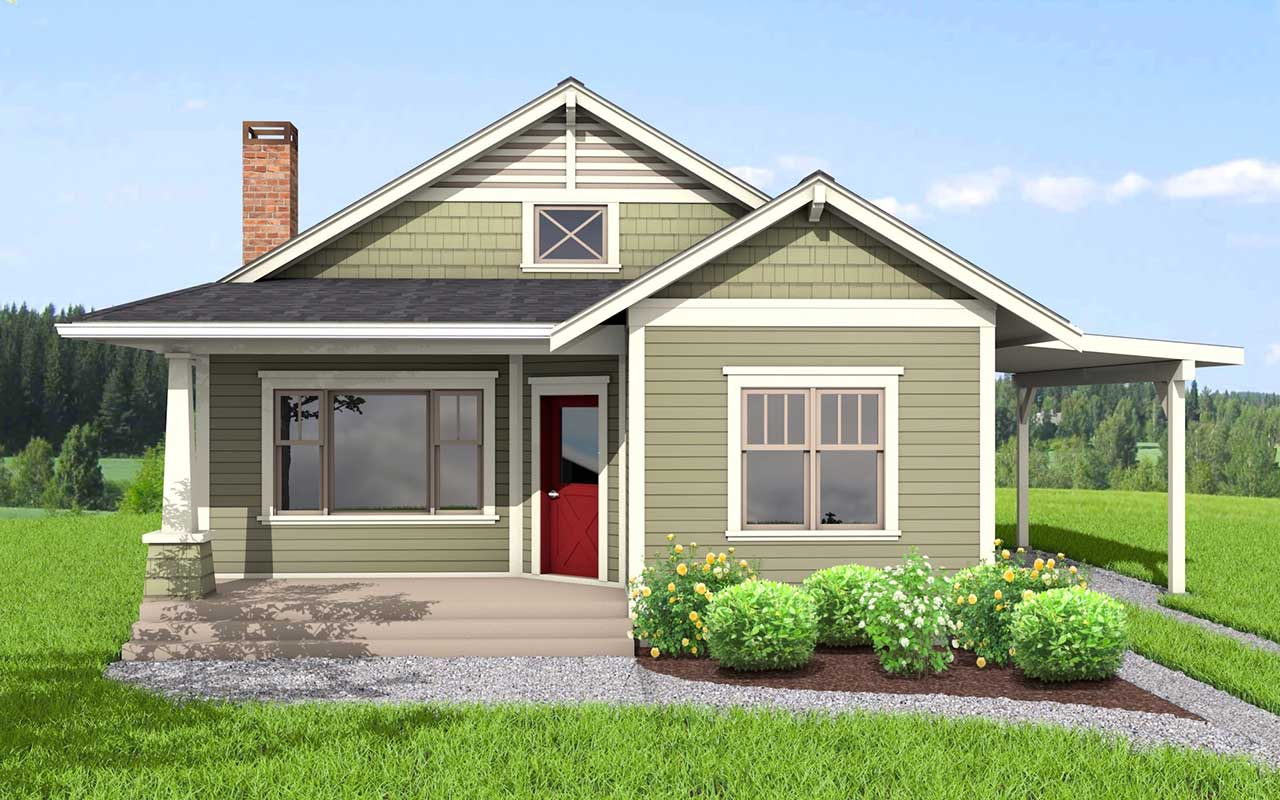 Bungalow Style House Plans Plan: 32-137