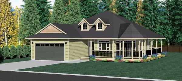 Country Style Floor Plans Plan: 32-141