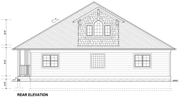 Rear Elevation Plan: 32-142