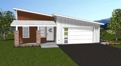 Modern Style House Plans Plan: 32-145