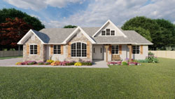 Ranch Style House Plans Plan: 32-153