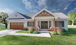 Modern-Farmhouse Style House Plans 32-155