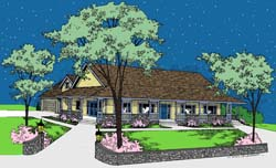 Country Style House Plans 33-101