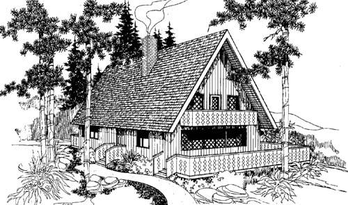 Cottage Style Floor Plans Plan: 33-123
