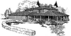 Country Style Floor Plans Plan: 33-124