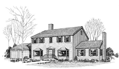 Early-american Style House Plans Plan: 33-127