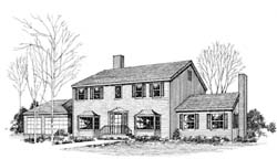 Early-American Style Floor Plans Plan: 33-127