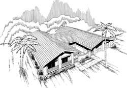 Southwest Style House Plans Plan: 33-131