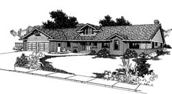 Traditional Style Home Design Plan: 33-147