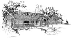 Country Style Home Design Plan: 33-150