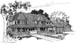 Victorian Style Floor Plans Plan: 33-153
