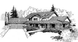 Traditional Style Home Design Plan: 33-157