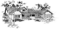 Traditional Style Home Design Plan: 33-160