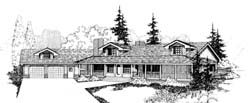 Country Style Floor Plans Plan: 33-167