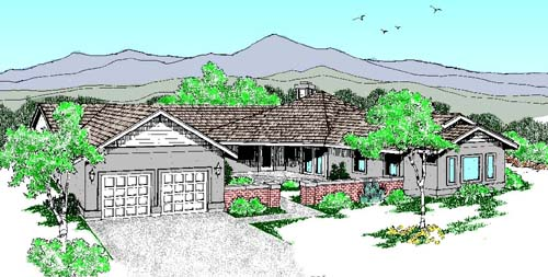 Traditional Style Home Design Plan: 33-195