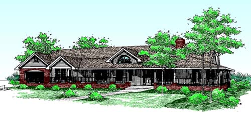 Traditional Style Home Design Plan: 33-204