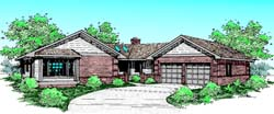 Traditional Style Home Design Plan: 33-208
