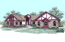 European Style Home Design Plan: 33-242