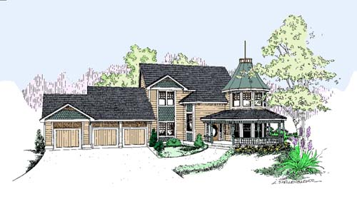 Victorian Style House Plans Plan: 33-246
