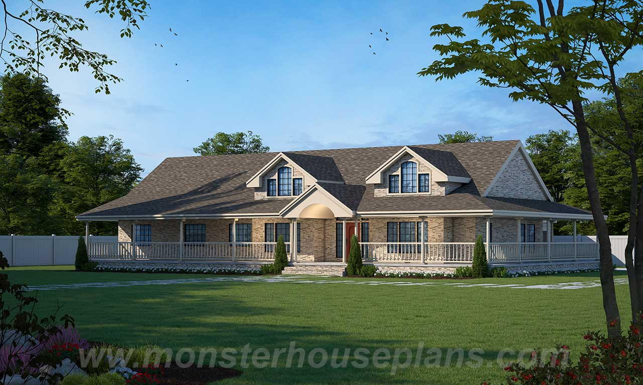 Ranch Style Home Design Plan: 33-281