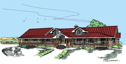Ranch Style Home Design Plan: 33-283
