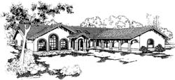 Southwest Style House Plans Plan: 33-290