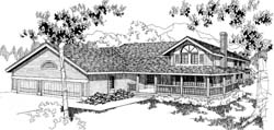 Traditional Style Home Design Plan: 33-297
