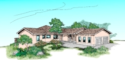 Traditional Style Home Design Plan: 33-333