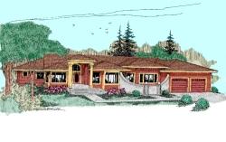 Northwest Style Home Design Plan: 33-345
