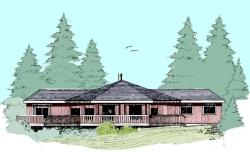 Contemporary Style Home Design Plan: 33-349