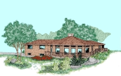 Contemporary Style Home Design Plan: 33-376