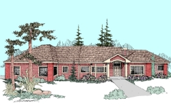 Northwest Style Home Design Plan: 33-387