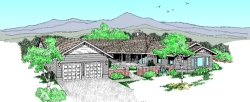 Northwest Style Home Design Plan: 33-425